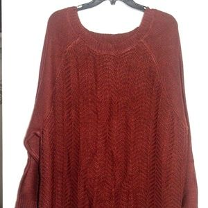 NWT Lane Bryant Womens Russet Pull Over Sweater